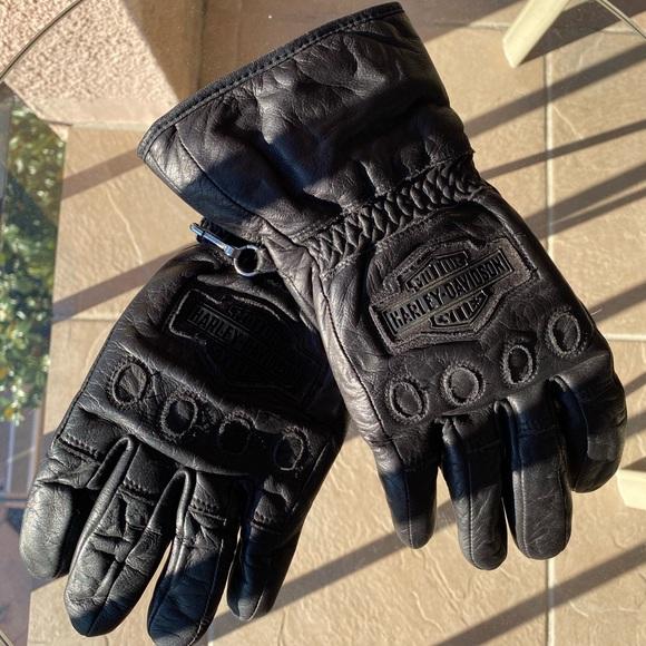 Harley-Davidson Leather Biker Gloves